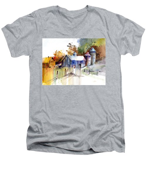 A Walk To The Barn Men's V-Neck T-Shirt