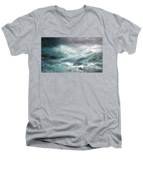 a wave my way by Jarko Men's V-Neck T-Shirt