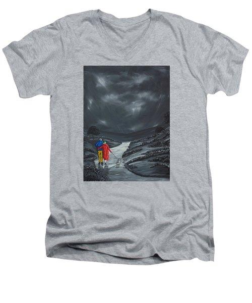 A Wee Bijou Strollette Men's V-Neck T-Shirt by Scott Wilmot