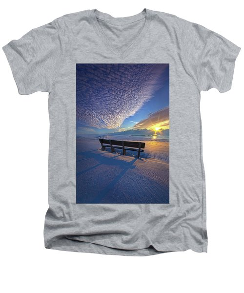 Men's V-Neck T-Shirt featuring the photograph A Whole World In Front Of Us by Phil Koch