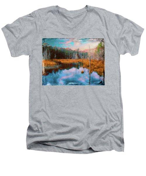 A Wilderness Marsh Men's V-Neck T-Shirt