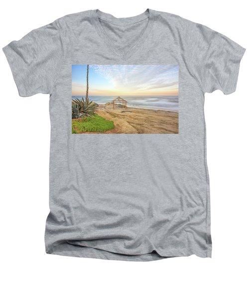 A Windansea Morning Men's V-Neck T-Shirt by Joseph S Giacalone