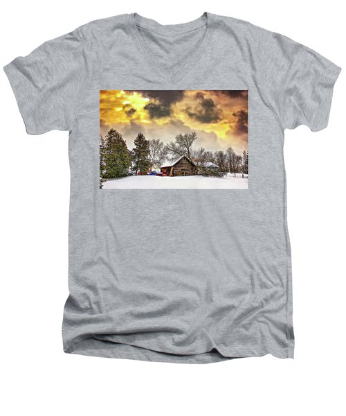A Winter Sky Men's V-Neck T-Shirt