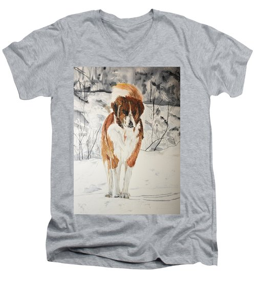 A Winter Walk Men's V-Neck T-Shirt