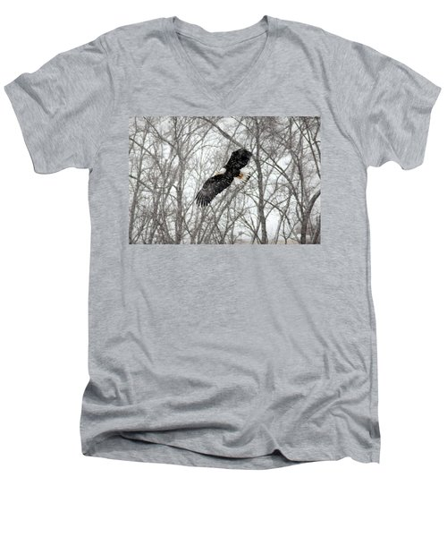 A Winter's Day Men's V-Neck T-Shirt