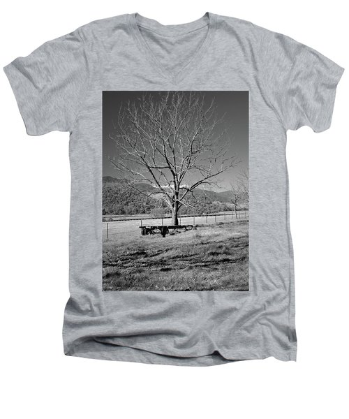 A Wintery Stand Men's V-Neck T-Shirt