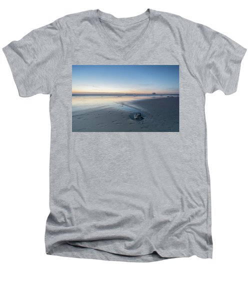 A Wonderfull Sunset.. And A Rock Men's V-Neck T-Shirt