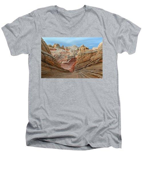 A World In Turmoil Men's V-Neck T-Shirt