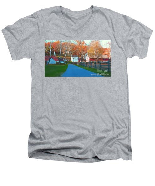 A World With Octobers Men's V-Neck T-Shirt