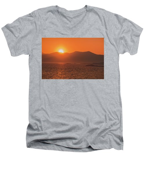 A Wraith Of Smoke Shortly After A Forest Fire Is Extinguished  Men's V-Neck T-Shirt