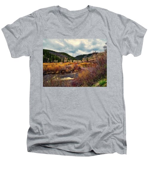 A Wyoming Autumn Day Men's V-Neck T-Shirt by L O C