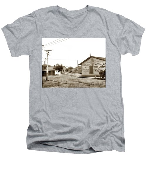 A. A. Manuel General Merchandise, Monterey 1901 Men's V-Neck T-Shirt