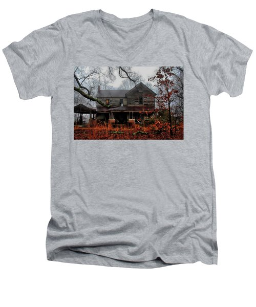 Abandoned Autumn Men's V-Neck T-Shirt