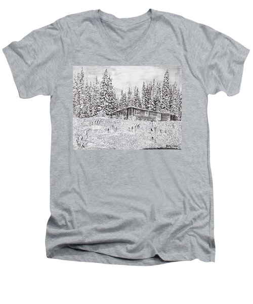 Abandoned Cabin Men's V-Neck T-Shirt