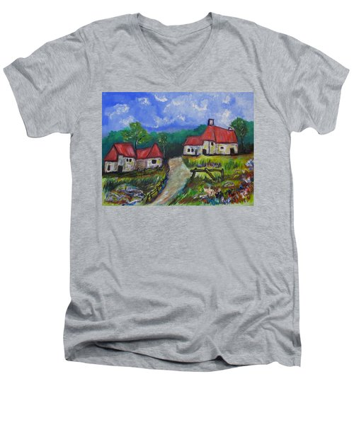 Abandoned Farm Men's V-Neck T-Shirt by Clyde J Kell