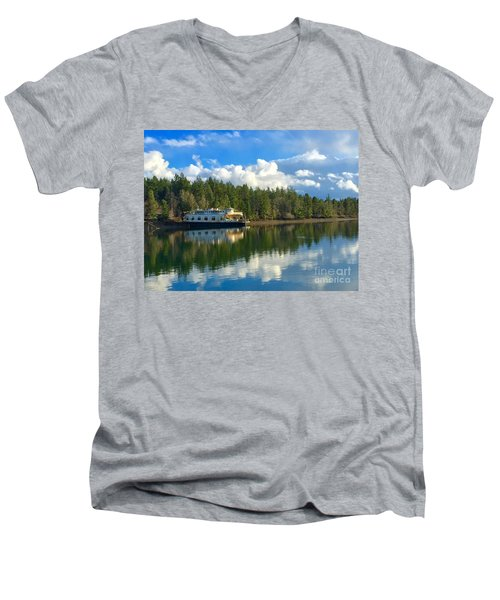 Abandoned Ferry Men's V-Neck T-Shirt by Sean Griffin