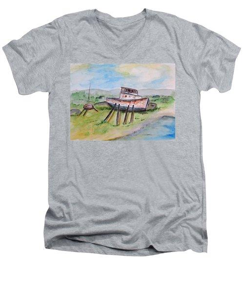 Abandoned Fishing Boat Men's V-Neck T-Shirt