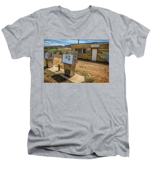 Abandoned Gas Station Men's V-Neck T-Shirt