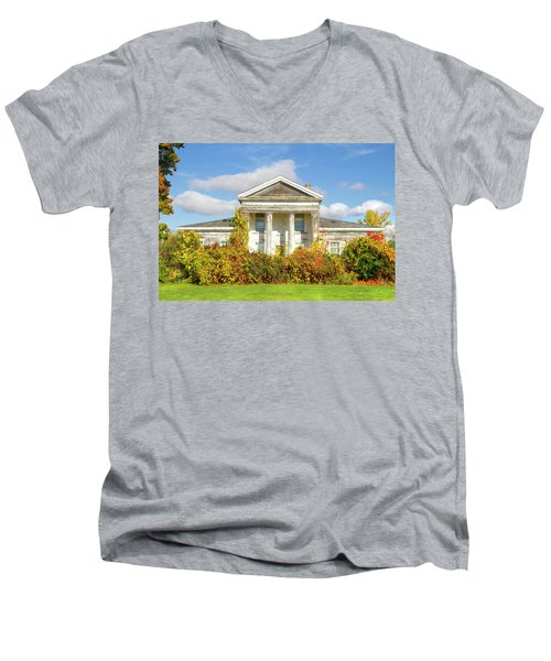 Abandoned Greek Revival Men's V-Neck T-Shirt