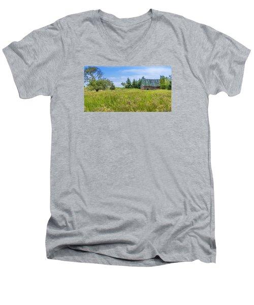 Abandoned House In Feltzen South Men's V-Neck T-Shirt by Ken Morris