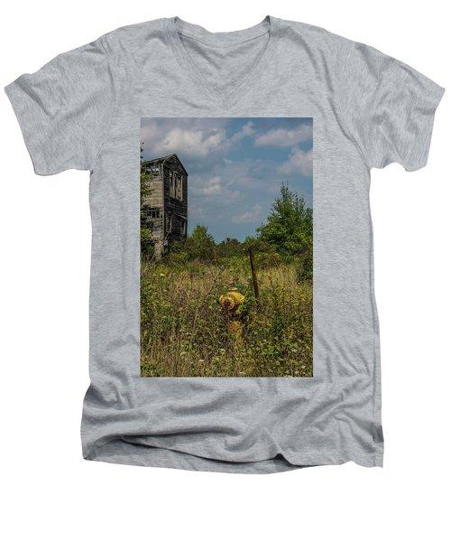 Abandoned Hydrant Men's V-Neck T-Shirt