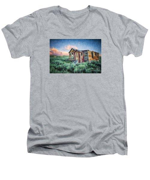 Abandoned In America Men's V-Neck T-Shirt
