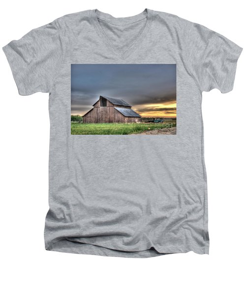 Men's V-Neck T-Shirt featuring the photograph Abandoned by Jim and Emily Bush