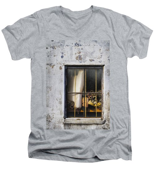 Abandoned Remnants Ala Grunge Men's V-Neck T-Shirt by Kathy Clark