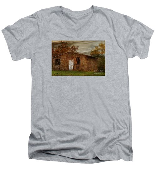 Men's V-Neck T-Shirt featuring the photograph Abandoned by Tamera James