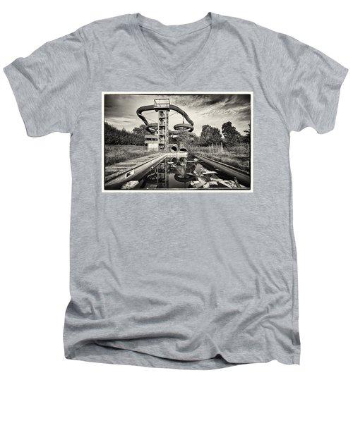 Lets Have A Splash - Abandoned Water Park Men's V-Neck T-Shirt by Dirk Ercken