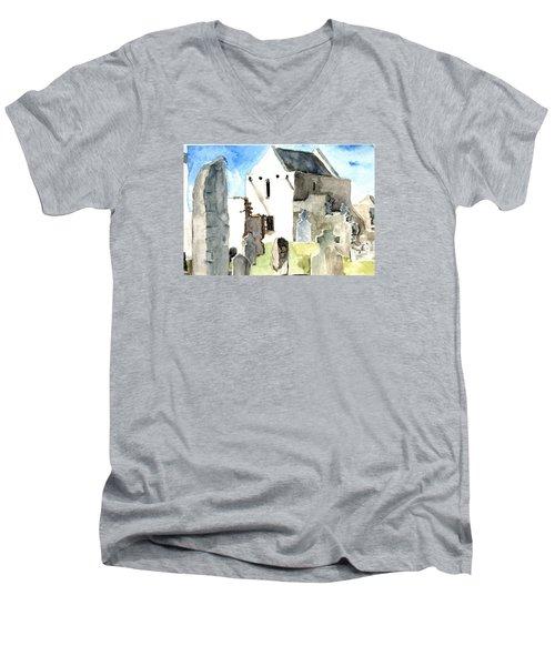 Abbey Watercolor Men's V-Neck T-Shirt