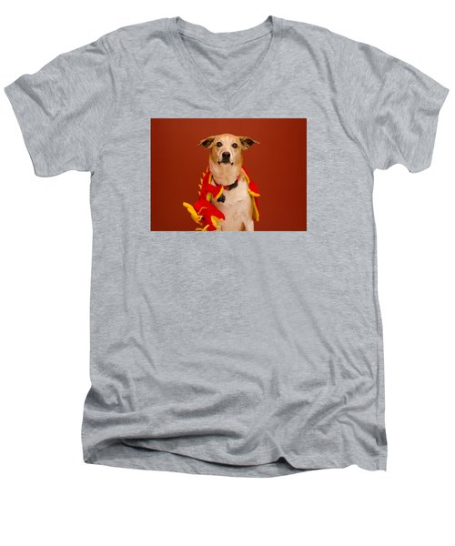 Abbie And A Dragon Men's V-Neck T-Shirt