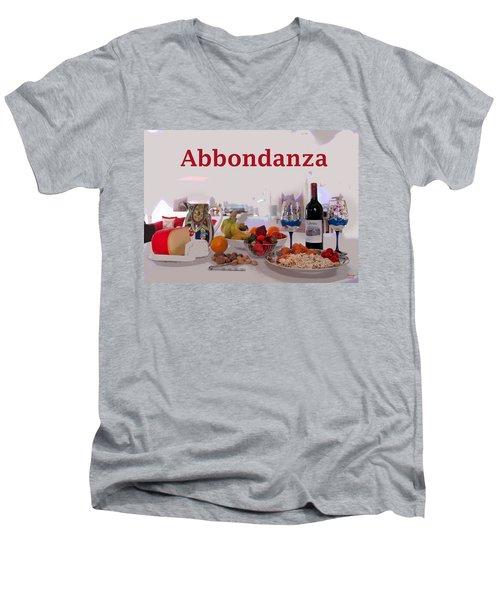 Abbondanza Men's V-Neck T-Shirt by Charles Shoup