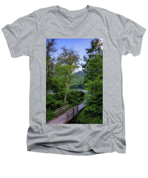 Abbott Lake Trail Men's V-Neck T-Shirt