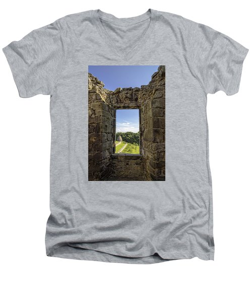 Men's V-Neck T-Shirt featuring the photograph Aberdour Castle by Jeremy Lavender Photography