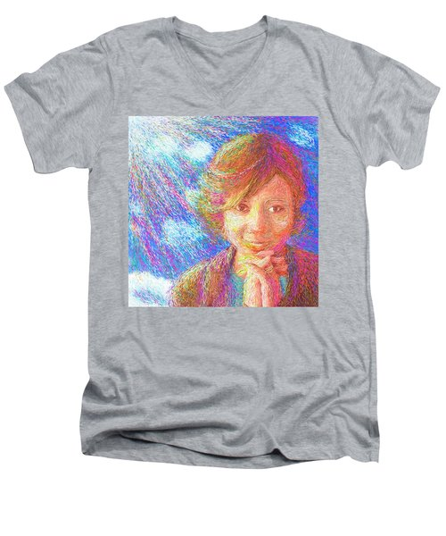 Abiding In Faith Men's V-Neck T-Shirt by Hidden Mountain
