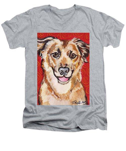 Abigail Men's V-Neck T-Shirt by John Keaton
