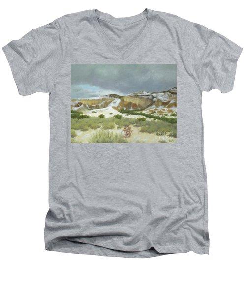 Abiquiu In Winter Men's V-Neck T-Shirt