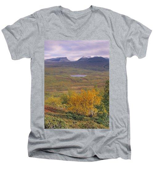 Abisko Nationalpark Men's V-Neck T-Shirt by Thomas M Pikolin