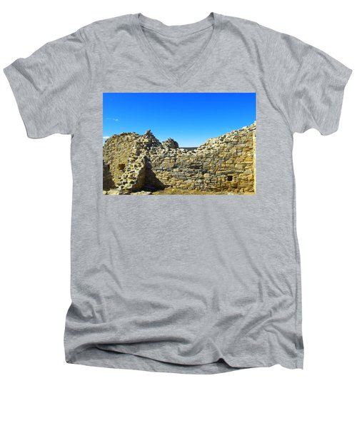 Men's V-Neck T-Shirt featuring the photograph Abo Mission Ruins New Mexico by Jeff Swan