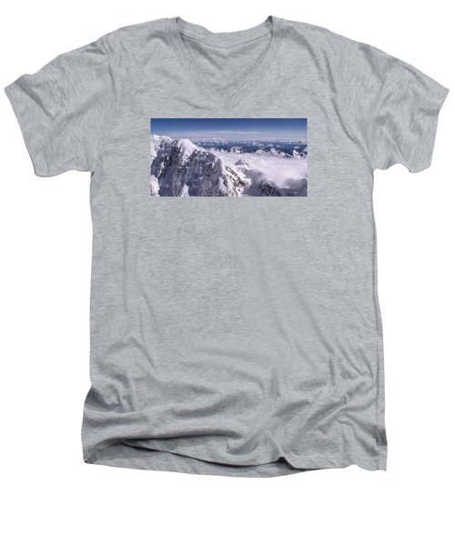 Above Denali Men's V-Neck T-Shirt