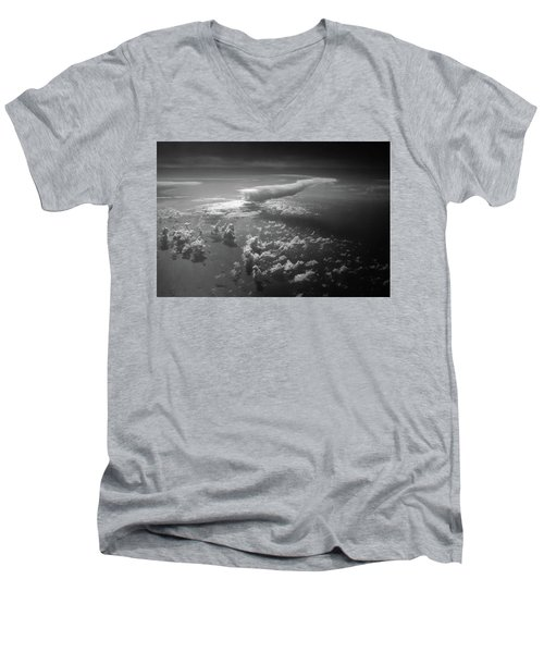 Above Earth 1 Men's V-Neck T-Shirt by Cedric Hampton