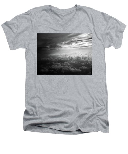 Above Earth 3 Men's V-Neck T-Shirt by Cedric Hampton