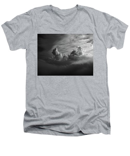 Above Earth 4 Men's V-Neck T-Shirt by Cedric Hampton
