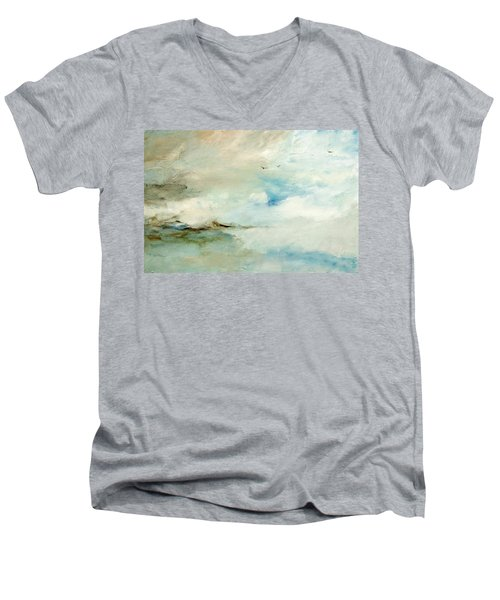 Above It All Men's V-Neck T-Shirt by Dina Dargo