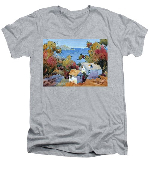 Above The Pacific Men's V-Neck T-Shirt