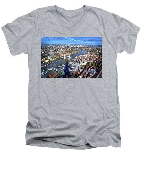 Above The Shadow Of The Shard Men's V-Neck T-Shirt by Jim Albritton