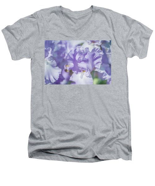 Absolute Treasure Closeup. The Beauty Of Irises Men's V-Neck T-Shirt