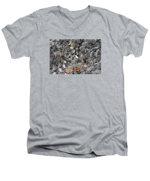 Men's V-Neck T-Shirt featuring the digital art Absorption by Leo Symon