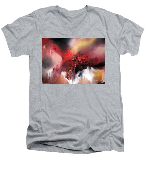Abstract #02 Men's V-Neck T-Shirt by Raymond Doward